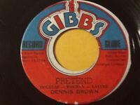 "DENNIS BROWN - PRETEND  / REGGAE 45"" on JOE GIBBS Labels"