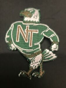North Texas University Eagles Mean Green Vintage  Embroidered Iron On Patch 3.5""