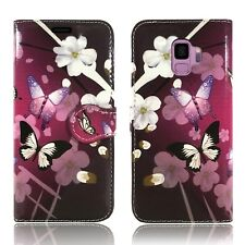 Leather Wallet Flip Book Protect Case Cover 4 Samsung Galaxy S7 Edge Samsung S8 Butterfly Wonderland - Blissful Flying Butterflies