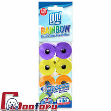 New listing �Out!�Dog Waste Pickup Bags, 8 Rolls 120 Bags, Rainbow Colors