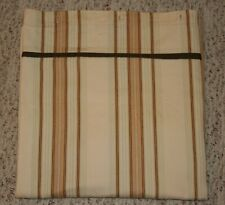Waverly Sweetwater Stripe Brown Shower Curtain Khaki Neutral Trim Cotton Fabric