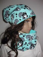 Stinktier Beanie Mütze + Loop, Übergang, 50-53 KU, Mädchen, Kindermütze, 3208