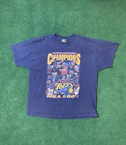 Rare Allen Iverson Vtg 76ers Nba 2001 T Shirt 2XL Sixers Rap Tee Champions MVP