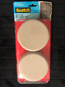 SCOTCH 8 SLIDERS FOR CARPET. MOVES FURNITURE WITH EASE. SIZE 5 inch (8 Pack)