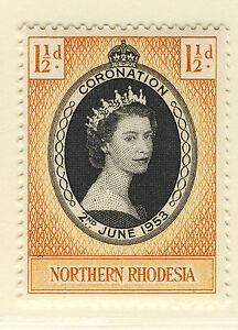 NORTHERN RHODESIA 1953 CORONATION  MNH
