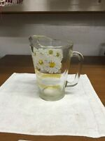 Vintage Heavy Glass Beverage Pitcher With Ice Lip
