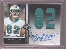 2011 LEAF LIMITED BRIAN HARTLINE DOLPHINS AUTO JERSEY CARD SERIAL #ED 8/10