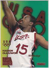 1996 SKYBOX USA BASKETBALL BRONZE: HAKEEM OLAJUWON #B6 HOUSTON ROCKETS HOF/MVP