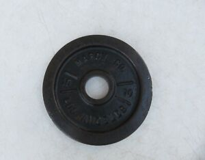 10lb Vintage Marcy Los Angeles Co 10 LB weight Plate weights Olympic Rare