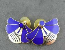 Laurel Burch Earrings Jackets Cobalt Blue Rare