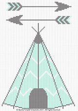 Crochet Pattern - TEEPEE and ARROWS Baby WOODLAND Afghan Pattern