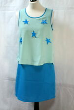 Robe bleue aux étoiles Color Block t. 36/38