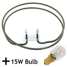 2500W Fan Heater Element for GENERAL ELECTRIC Oven Cooker + 15W Lamp Light Bulb