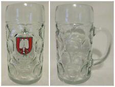 1 Liter Spaten München Logo Dimpled Glass Beer Stein Oktoberfest Isar Jumbo Larg