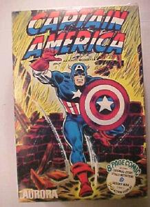 Aurora Comic Scenes Captain America Vintage Model Kit BOX ONLY,