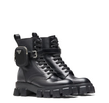 Prada ankle pouch combat boots 38EU NEW IN BOX 1500$