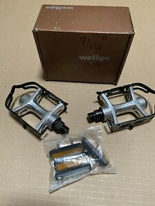 "New Wellgo 9/16"" Alloy Bike Pedals for MTB Road City Fixed Gear Bikes - Black"