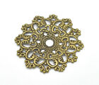 "New 30 Bronze Tone Filigree Flower Wraps Connectors 4.7x4.7cm(1-7/8""x1-7/8"")"