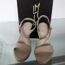 Scarpa sandalo LORENZO MASIERO tg.35 colore beige pelle e cuoio(NUOVA)