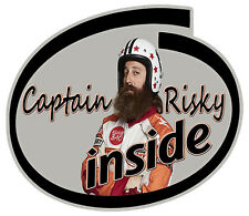 CAPTAIN RISKY INSIDE STICKER FUNNY CAPTAIN RISKY STICKER