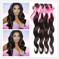 200g Body Wave Brazilian Human Hair Extensions weave weft Virgin Hair 1B#