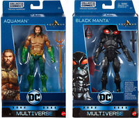 "DC Multiverse 6"" AQUAMAN & BLACK MANTA ACTION FIGURE SET ~ Mattel"