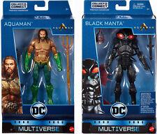"DC Multiverse 6"" AQUAMAN & BLACK MANTA ACTION FIGURE SET ~ Mattel"