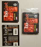 1997-98 Upper Deck Basketball Stickers Lot of 5(Five) New Sealed Packs Jordan.