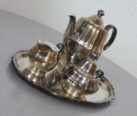alter WMF Mokka Kaffeekern 3 teilig versilbert Kaffee Zucker Milch 50er Jahre