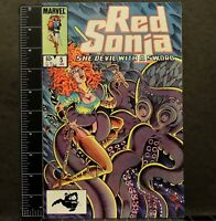 RED SONJA Vol 3 #5 Marvel comic book 8.0 Octopus Battle Barbarian Fantasy 1985
