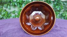 Williams Sonoma Monkey Bread Brown Glazed Ceramic Dish Baking Mold