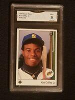 MINT 9 1989 Upper Deck #1 Ken Griffey Jr. RC Rookie  MARINERS HOF STAR