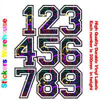 3x House Numbers Durable Vinyl Stickers Decals for House Bin Door Window Wall V1