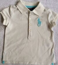 New Girls Ralph Lauren Big Pony Stretch Cotton Polo Shirt 2T/2Y