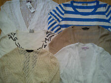 NICE USED NEW 6x BUNDLE LADIES WOMENS JUMPERS CARDIGANS SIZE 14 (1.3)