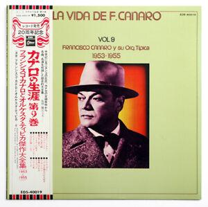 La vida de FRANCISCO CANARO vol.9 tango japanese japan EMI EOS-40019 LP +OBI EX+