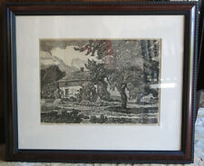 "Birger Sandzen Vintage Lithograph Print "" The Old Homestead""  Hand Signed  RARE"