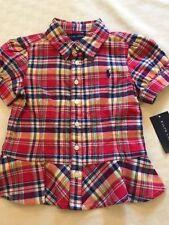 Ralph Lauren Girls' Checked T-Shirts, Top & Shirts (2-16 Years)