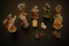 Krippenfiguren 7 cm Weihnachtskrippe Figurenset 11tlg. Weihnachten Krippenstall
