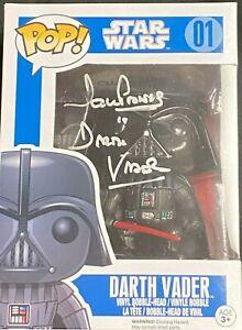 Dave Prowse Hand Signed Darth Vader Funk Pop Vinyl Figure Signed Is Darth Vader