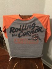 Adidas Auburn Grey And Orange 3/4 Sleeve Size Small Vintage