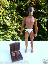 ☺ Figurine Big Jim Mattel 1971 Hong Kong Vendu Avec Deux Visages