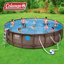 "Coleman 22' x 52"" Power Steel Swim Vista II Swimming Pool Set"