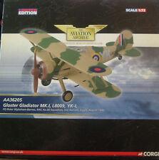 CORGI AVIAZIONE archivio-AA36205 il Gloster Gladiator RAF 80 SQD. Sidi Barrani 1940