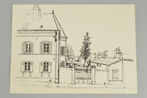 20th Century British JAMES ARNOLD MARTIN French House Original Pen Ink Drawing