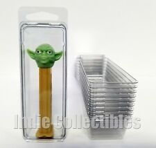 PEZ DISPENSER BLISTER CASE LOT OF 10 Figure Display Protective Clamshell SMALL