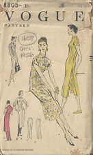 1956 Vintage Vogue Patron de Couture B36 Robe & Pantalon (1608)