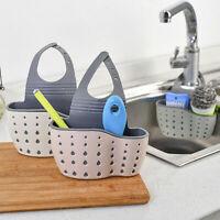 Hanging Drainer Basket Sink Shelf Soap Sponge Drain Rack Drainer Bathroom W2N3