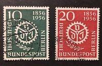 Berlin 1956, Timbres Mi 138 et 139, Oblitérés, Cote 8,5 €