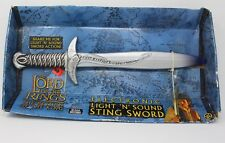 Lord of the Rings Electronic Light N' Sound Sting Sword LOTR New Packaging worn
